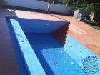 Microcemento en piscina